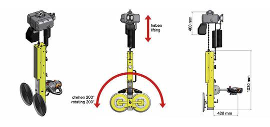 VACUUM LIFTER B2 WITH CHAIN HOIST