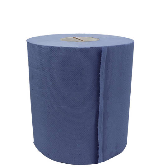 PAPER TOWEL ROLL FORM 2 PLY BLUE