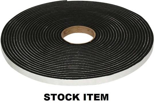 FOAM GLAZING TAPE - 3MM X 6MM X 25M