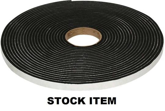 V1510 GLAZING TAPE 6.4MM X 9MM X 15.2M