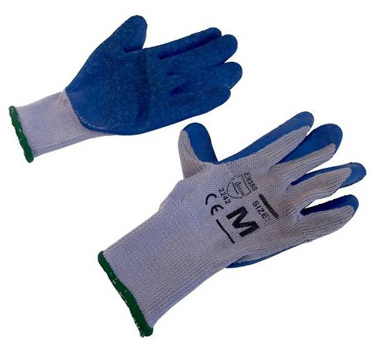 BLUE GLOVES LATEX LARGE