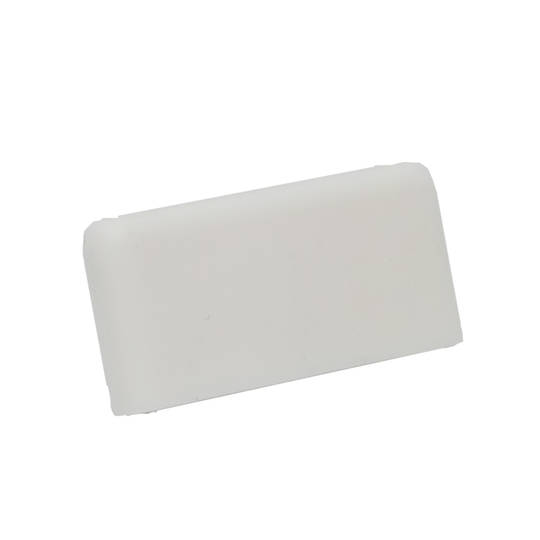 FINELINE SQUARE END CAP - WHITE L/H