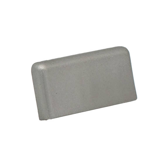 FINELINE SQUARE END CAP- SATIN SILVER LH