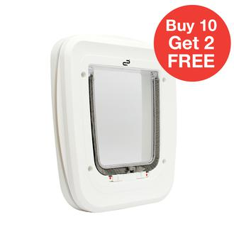 PET-CORP CLASSIC CAT DOOR - WHITE