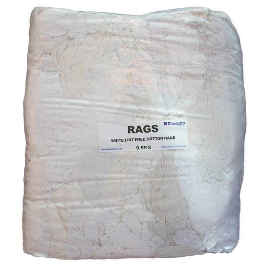 LINT FREE WHITE RAGS - 9.5KG
