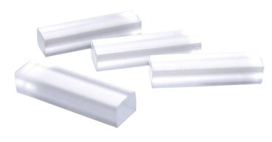 PVC CLEAR SETTING BLOCK 8 X 8 X 30mm