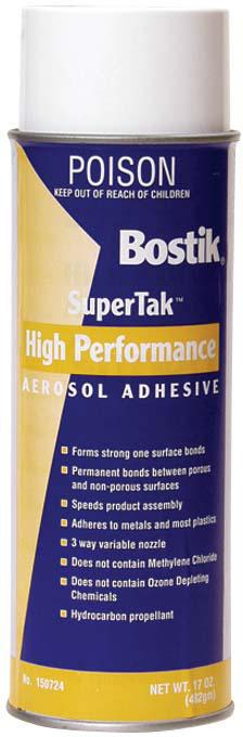 HIGH  PERFORMANCE AEROSOL ADHESIVE